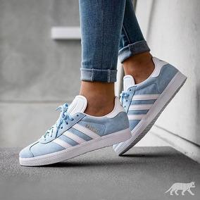 adidas gazelle azul mujer