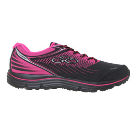 Zapatillas Olympikus Running Rush Mujer Ng/fu