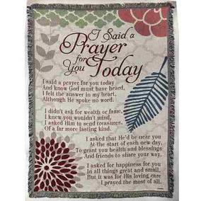 Dijo Una Oración Para Ti Botanical 52 X 68 All Cotton T...