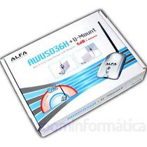 Antena Alfa Wifi Amplificador Señal Largo Alcance 5di 2w Usb