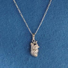 Dije Corazón Anatómico Con Arterias Medico Plata Ley.925 E52