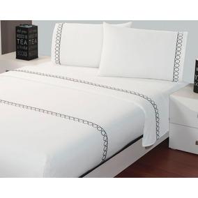 Jgo. De Sabanas Estampadas Cotton Fresh Onix King Size