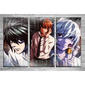 Cuadros Tripticos Modernos Death Note 90 X 40 Cm