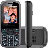 Celular Up 2 Chips C/ Câmera Preto Bluetooth Mp3 Wap - P3292