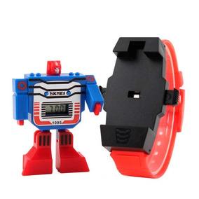 Reloj Skmei Digital Para Niño Digital Robot Desprendible