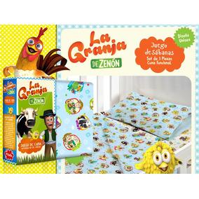 Juego De Sábanas La Granja De Zenón - 1 ½ Plaza - Original