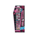 Kit 04 Lápis Com Borracha Monster High + Marcosrimed