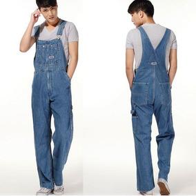 Macacão Jardineira Masculina Jeans Promoção Plus Size 36-60