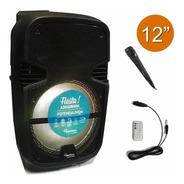 Parlante Portatil 12  Bateria Bluetooth Radio Mic Acid Plus