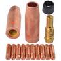 Kit Tocha Mig 0,8mm Bico Bocal Difusor Luva 130 150 190 195