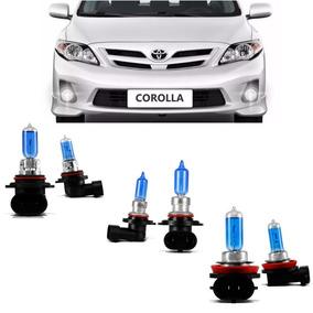Kit Lâmpadas Corolla 2012 2013 2014 Farol Hb3 Hb4 Milha H11