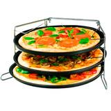 Pizza Party Set De Pizzeras Y Estructura Para Horno Marmicoc