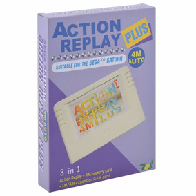 Action Replay Plus 5 Em 1 P/ Sega Saturn + Caixa + Novo!