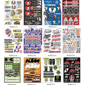 Adesivo Cartela Moto Gp Motocross Capacete Carro Decoração