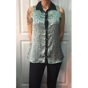Camisa Dama Chaleco Seda Mujer Gasa Invox Urban Moda