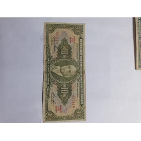 Dinheiro ; Cédula Antiga 10 Cruzeiros Verde Getulio Vargas