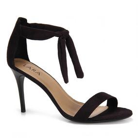 Sandália Salto Fino Lara Amarração - Preto