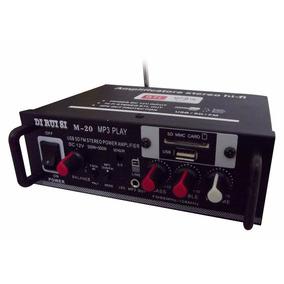 Amplificador Áudio Receiver Bluetooth Som Ambiente Fm Aux P2