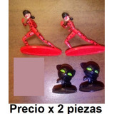 Figuras Miraculous 2pz Plagga Y Lady Bug Huevo Kinder Lote