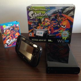 Wii U Deluxe Edition 32g Splatoon Série Limitada Mario Kart