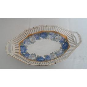 Antigua Fuente Porcelana Bavaria Pasacintas Impecable