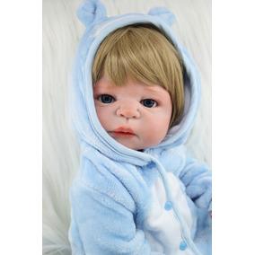 Boneca Reborn Bebê Vinil Pronta Entrega Menino 54 Cm