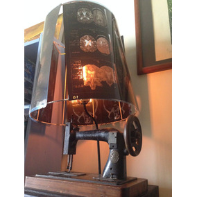 Lámpara De Maquina De Coser Antigua
