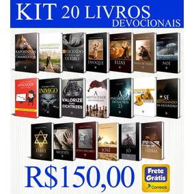 Kit Com 20 Livros Devocionais - Tamanho 14x20 - Serie Azul