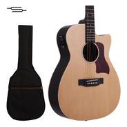 Guitarra Electro Acustica Stagg Eq Afinador + Funda + Cuotas