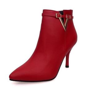 Chelsea Botines Alto Libre Tacon Zapatos Hombre En Rojo De Mercado xxwrPH