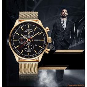 611797c3af3 Relogio Curren De Luxo Dourado - Relógios De Pulso no Mercado Livre ...