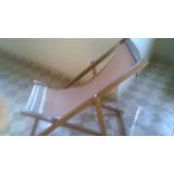 Cadeira Reclinável De Madeira