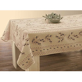 Easynappes Tablecloth, Anti-stain, Olivette Beige, Rectangul