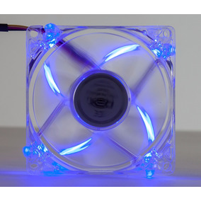 Cooler Fan 4 Led Azul 8cm 80mm Gabinete Ventoinha Dx-8tal