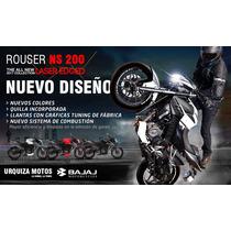 Moto Bajaj Rouser Ns 200 Nuevo Diseño Agencia Oficial 0km