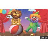 Circo Palhaço Painel 3,00x1,60 Lona Festa Aniversário Banner