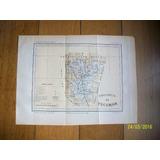Mapa Provincia De Tucumán. Grabado Original De 1889