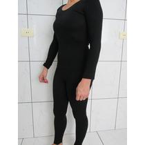 Roupa Termica Feminina Preto-calça E Blusa (p) Selfiesport