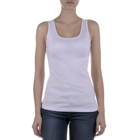 Remeras New Lee Basic Tank White Lee Mujer
