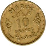 Spg Marruecos 10 Francos 1952 ( 1371 Ah ) Mohamed V