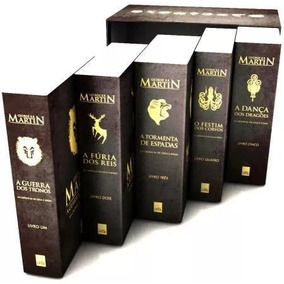 Box As Crônicas De Gelo E Fogo Com 5 Livros. Super Promoção!