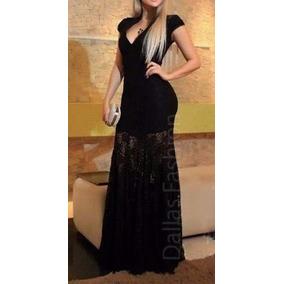 Vestido De Renda Longo, Decote V, Casamento, Madrinha, Festa