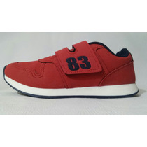 Tênis, Klin, Walk, Vermelho/azul, Ref: 1106,