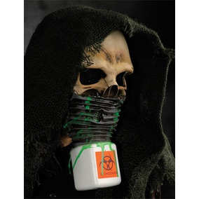 Mens Biohazard Scary Skull Death Halloween Costume Adult St