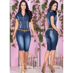 Macacão Jeans Glam Atenção Ao Prazo De Envio 25 Dias
