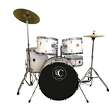 P1601c-wh Bateria De 5pcs Drum Set With Cymbal And Throne Bl