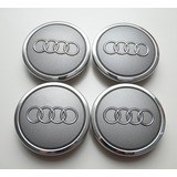 4x Centro Tapón De Rin Audi Color Gris 69mm - Envío Gratis