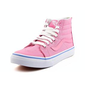 vans bota rosa mujer