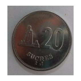 Moeda De 20 Sucres Do Equador 1991