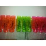 Copos Personalizados Long Drink Neon 15 Anos Casamento 50uni